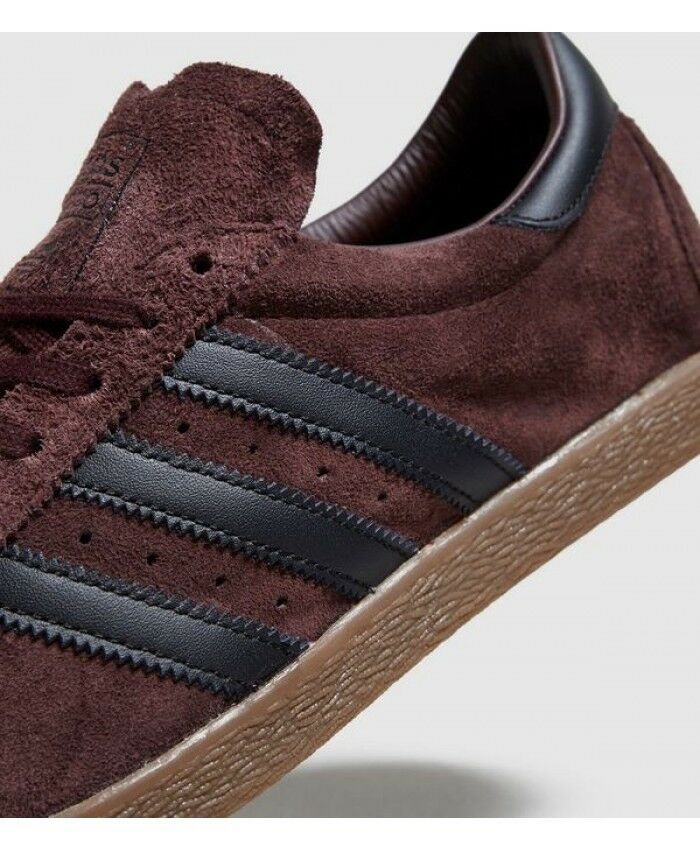 Adidas Originals Tobacco Red Night Suede Black GUM Brown BY9531 Men's 10.5 Shoes