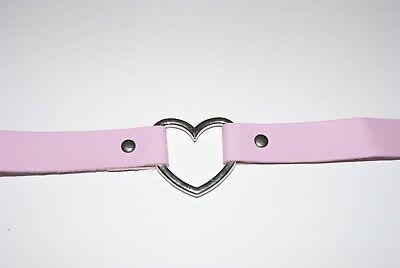 Black Heart Padlock Choker Necklace Key Collar Bondage Daddys Girl Princess Sub