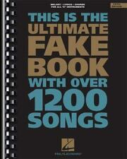 Fake Bks.: This Is the Ultimate Fake Book with over 1200 Songs (1994, Paperback, Revised)
