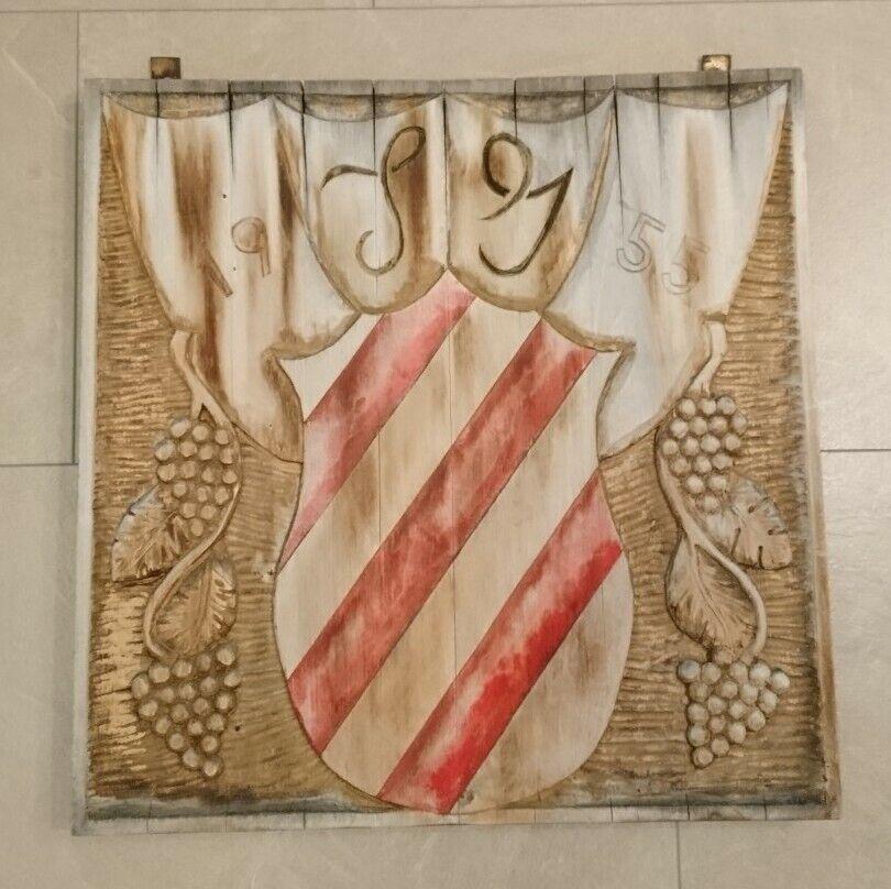 Totenkopf Holztafel Skull Relief Wandbild Holz Handarbeit Unikat 25x13x3
