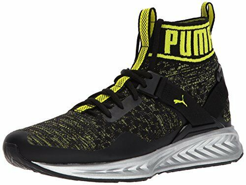 4acc4d1f1a0 PUMA Mens Ignite Evoknit NC Sneaker Black-quiet Shade-nrgy Yellow 12 M US  for sale online