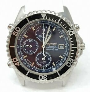 Orologio-Seiko-7T32-7C20-diver-watch-cronograph-clock-seiko-sport-150-horloge