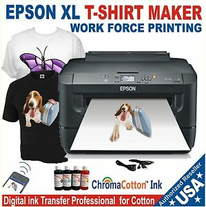 Details about EPSON XL PRINTER REFILL INK SOLUTION TO PRINT T-SHIRT COTTON  COMPLETE PACK