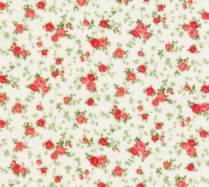 Shabby-Tiny-Coral-Rose-Cream-Cassandra-Robert-Kaufman-Cotton-Quilting-Fabric