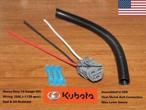 Details about Kubota Fuel Cut Shut-Off Solenoid Connector Plug Pigtail fits  V1505 V1105