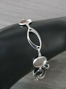 3 blank cabochon resin bracelet Bangle hollow Stainless Steel setting 12mm round
