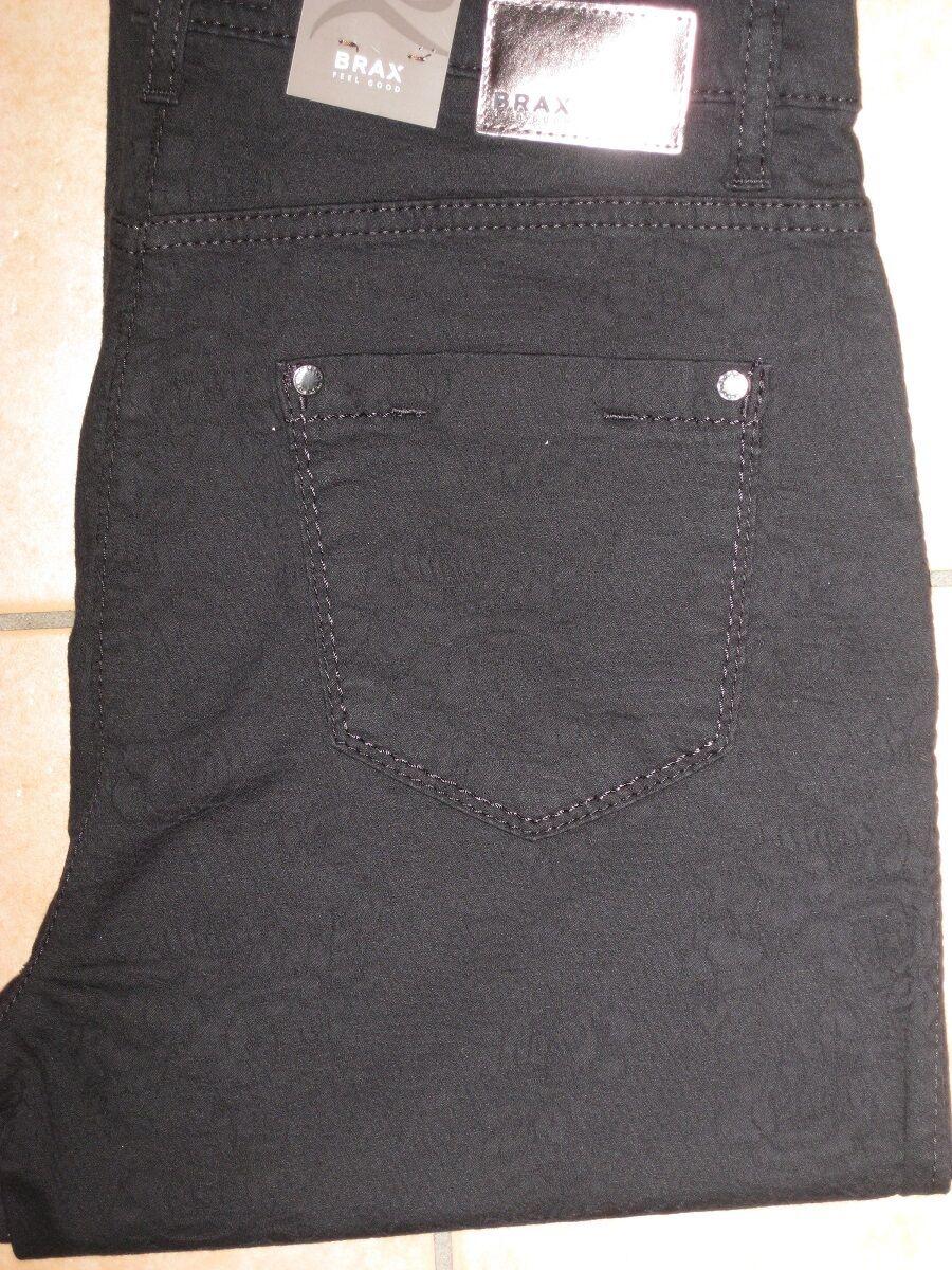 BRAX Jeans Stretchjeans Carola in schwarz gemustert Ganzjahresqualität NEUWARE