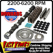 "HOWARD'S SBC Small Block Chevy 277/277 450""/450"" 106° Comp Camshaft Cam Kit"