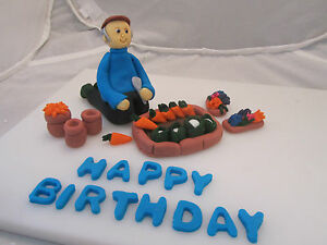 An Edible Man Gardener Gardening Figure flowersveg dad Birthday