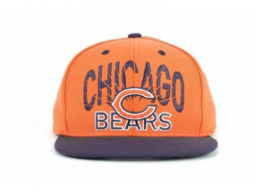 ... Chicago Bears NFL Fake Snap Reebok Vintage Snapback Orange FlatBill  Brim Hat Cap 412f4516a