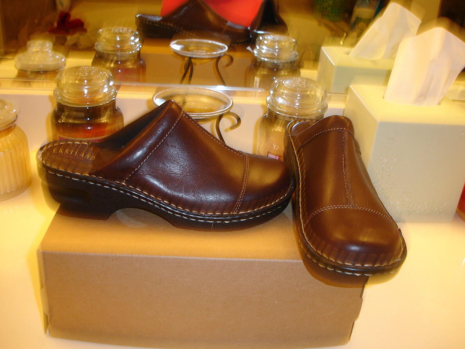 Eastland Collette Braun Leder Clog Mule Comfortable Styllish Nice 7  90