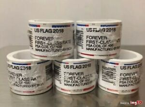 US Forever Flag Stamps 2018 100 count Roll (Coil) FREE SHIPPING~Seale