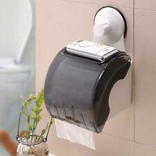 Waterproof Bathroom Toilet Wall Sucker Roll Holder Tissue Box Paper Stand  J US
