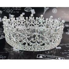 4.5cm High Full Crystal Luxury Wedding Bridal Party Pageant Prom Tiara Crown USA