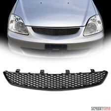 For 02 05 Civic Si Ep3 Hatchback Matte Blk T R Mesh Front Hood Bumper Grille Abs Fits 2004 Honda Civic