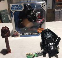 Lot Of 3 Star Wars Darth Vader-mr Potato Head, Plush Toy-chewbacca Pen Dispenser