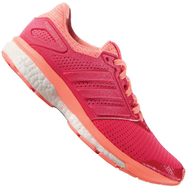 new arrival eebce dca65 adidas Supernova Glide 8 W Pink Orange Womens Running Shoes