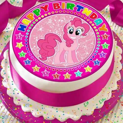 Stupendous Precut Edible Icing 7 5 Inch Cake Topper Birthday My Little Pony Personalised Birthday Cards Beptaeletsinfo
