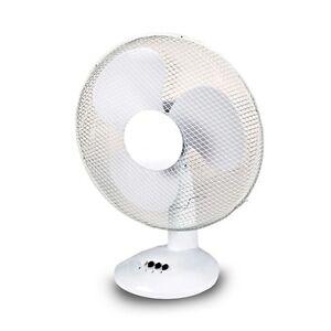 Ventilatore da tavolo 38W 30cm con 3 velocità per casa salone camera estate 2600