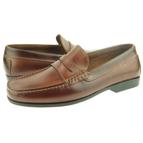 """Italy Men/'s Shoes Brown Daniele Lepori /""""Poker/"""" Leather Penny Loafer"""