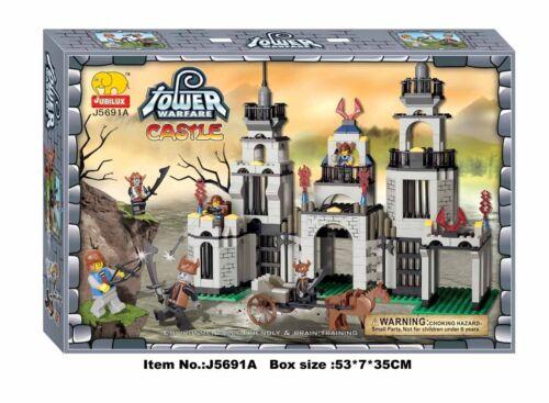 Woma Ritterburg mit Figuren und Wagen Bausteine Set 395 Teile J5691A