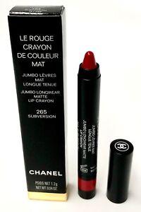 Details About Chanel Le Rouge Crayon Mat Jumbo Lip Crayon 265 Subversion 12g004oz