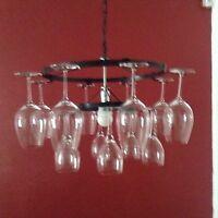 Wine Glass Chandelier 2 Tier 21 Light Lighting Chain Style Wine Decor