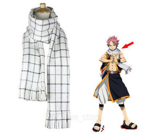 Anime-Fairy-Tail-Unisex-Scarf-Role-Natsu-Dragneel-Cosplay-Neckerchief-Gift