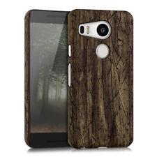 kwmobile Schutz Hülle für LG Google Nexus 5X Vintage Holz Dunkelbraun Case Hard