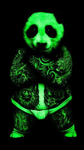 ROCK EAGLE hommes Tank top Sumo Panda Glow in the Dark Tatouage Mafia Style
