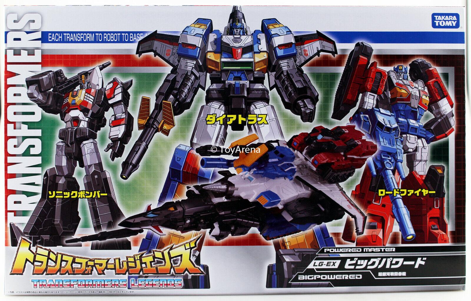 Transformers leyendas Lg-ex gran potencia (Dai Atlas, Sonic Bomber, roadfire) Set