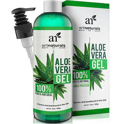 Aloe Vera Gel for Pure Daily Skin Moisturizing Face Hair Body Soothing Cream