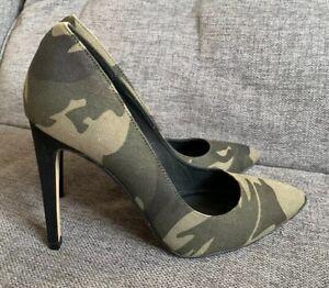 Détails sur OFFICE LONDON Chaussures Femmes 7 40 camoufloge Cour Gi Joe kaki Talons Hauts Soirée afficher le titre d'origine