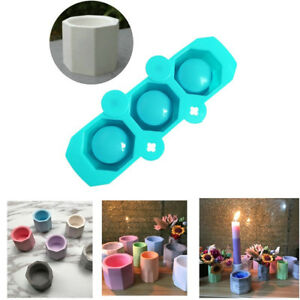 Concrete-Molds-Silicone-Cactus-Flower-Pot-Mold-Ceramic-Clay-Craft-Cup-Mould-JR