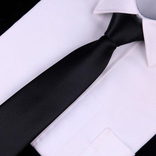 Schwarze Krawatte Binden Sicherheit Türsteher Matte Beerdigung Krawatte New A2O4