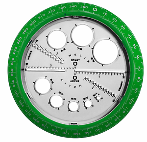 6 // Helix Angle and Circle Maker with Integrated Circle Templates 360 Degree