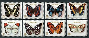 Rwanda-1979-MNH-Butterflies-8v-Set-Insects-Butterfly-Stamps