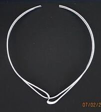 4mm 925 Sterling Silver Heart Shape Style Choker/Collar/Necklace/Wire/ 16 inch