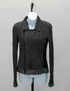 noir zippée S Taille Rag Veste Bone tweed tricot en de dUzCqwX