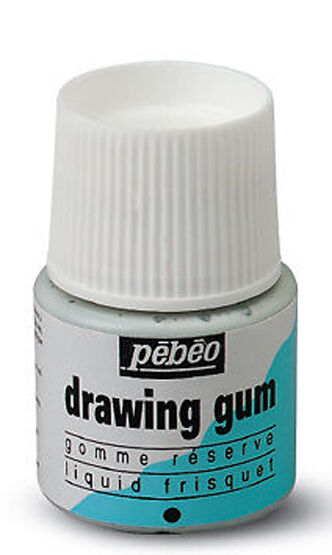 THREE x 45ml Bottles of Pebeo Drawing Gum - Masking Fluid for Watercolour