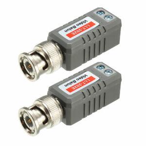 Video-Balun-Transceiver-CCTV-Camera-Passive-BNC-Connector-CAT5-LLT-202E-2-Pcs