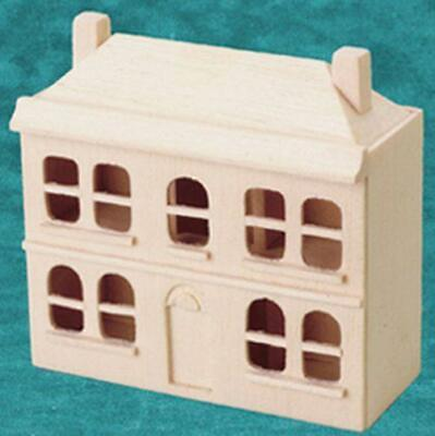 Miniature 1:144 Scale Natural Wood Dollhouse for the DOLLHOUSE Rounded Windows