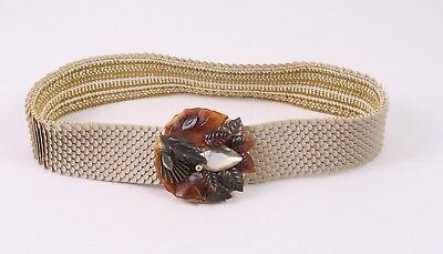 Delizioso Dg171 Capannone Cintura In Vita Cintura Marrone Beige 70er Stretch 65 - 100 Vintage-mostra Il Titolo Originale Aspetto Estetico