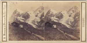 Suisse Vista Prise Da La Wengernalp Foto A. Braun - Vintage Albumina Ca 1860