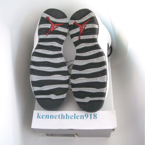 Negro 9 Jordan Nuevo Luz Talla X Blanco Nike 2005 Gris Acero Air 10 Retro Hombre n6wASqx8wt