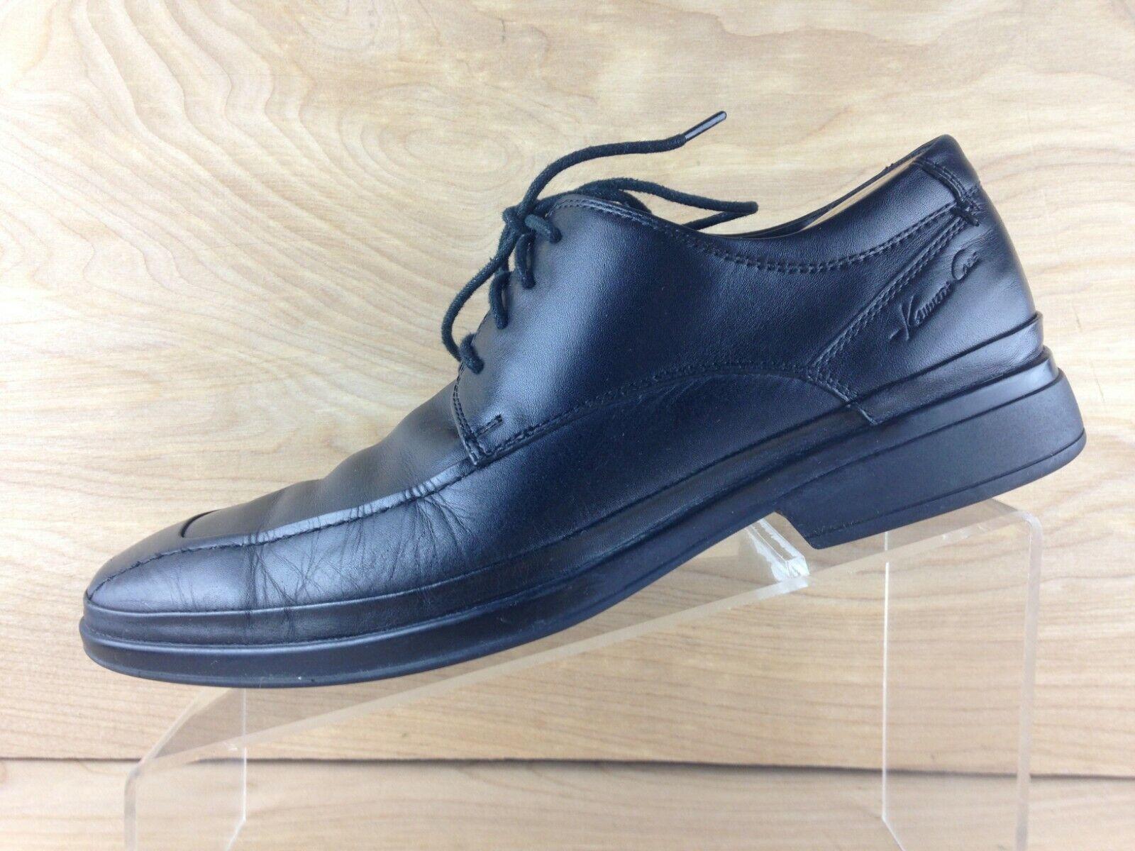 Kenneth Cole New York Walk the Walk Men Black Leather Apron Toe Oxford Size 8.5M