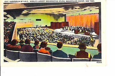 NBC Radio Broadcasting Auditorium @ 1940 Rockefeller Center  New York City