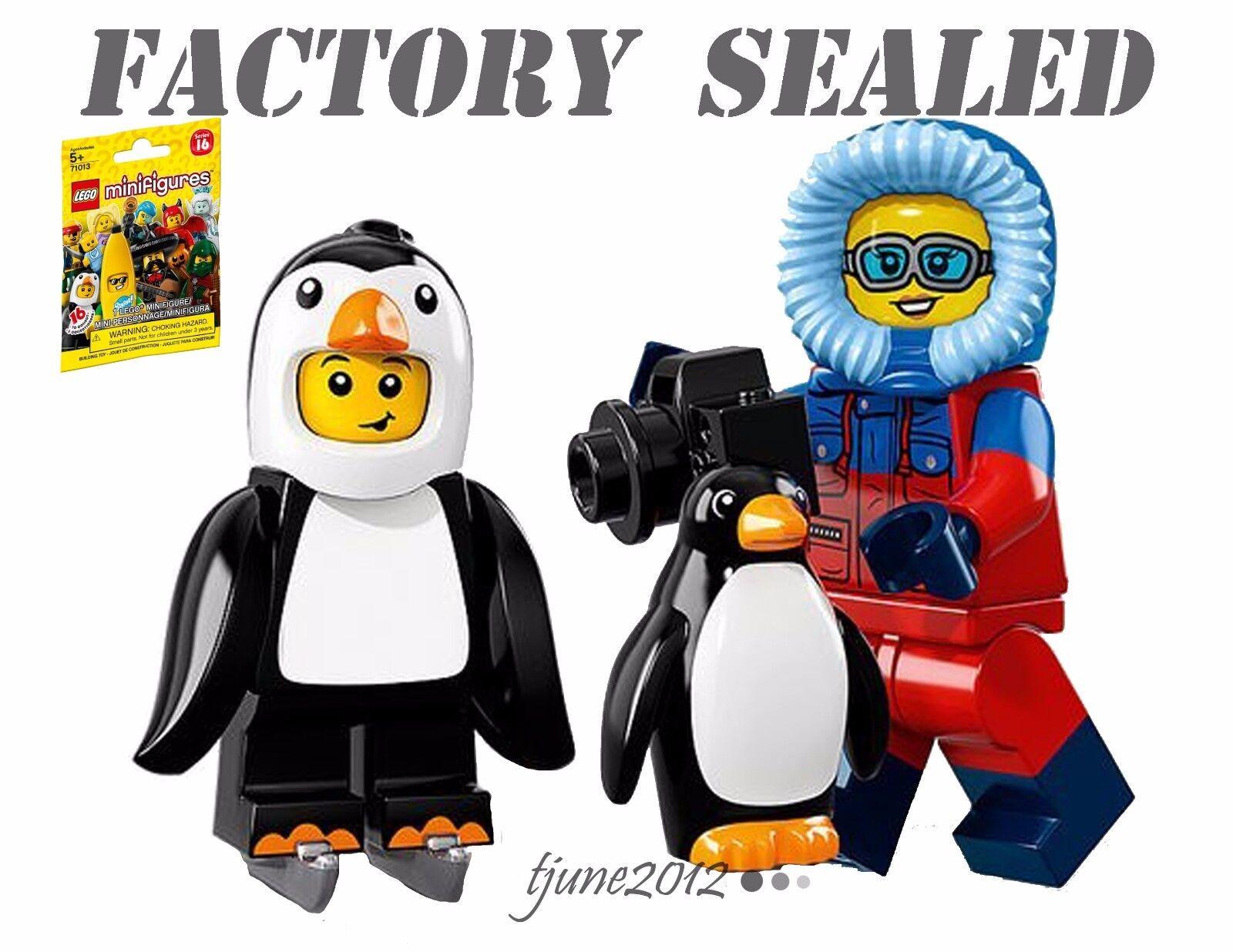 LEGO 71013 Minifigures Series 16 Penguin Boy Wildlife Photographer LOT SEALED