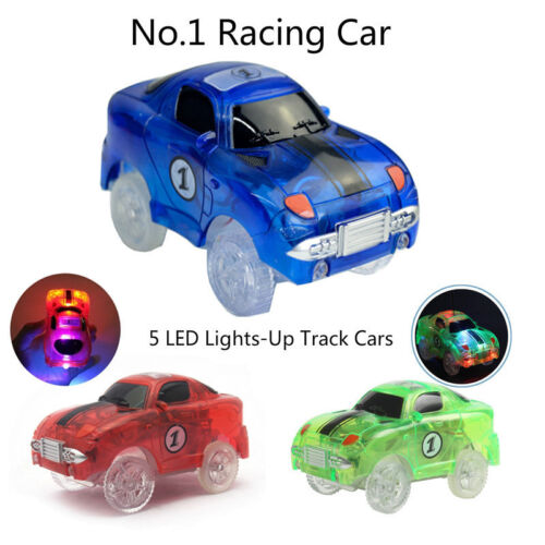 Cars for Magic Tracks Glow in the Dark Amazing Racetrack Light Up Car Race New.