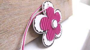 blume pink zum h ngen holz pappe deko fr hling landhaus fensterdeko. Black Bedroom Furniture Sets. Home Design Ideas